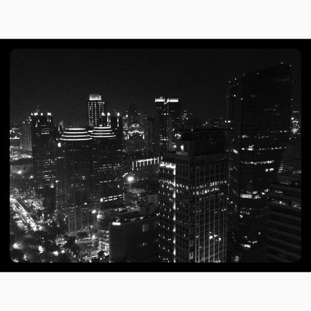HARRIS Suites FX Sudirman: Night city from room 4311