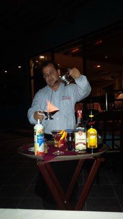 Mare Blu : Miguel Preparing the Mexican Coffee