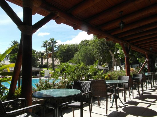 Melia Gorriones Fuerteventura : restauracja Oasis-taras przy basenie