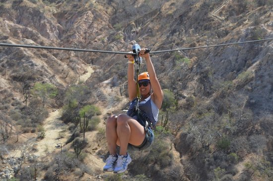 Canopy Costa Azul Eco-Adventure : Me on one of the Zip Lines!