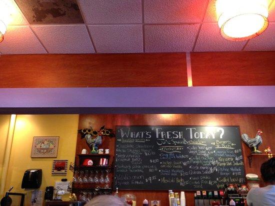 Berry Fresh Cafe: today's menu