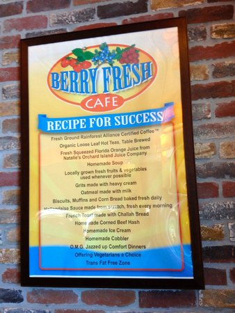 Berry Fresh Cafe: may be why they are doing a good business