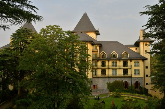 Wildflower Hall, Shimla in the Himalayas: Hotel from the front lawns