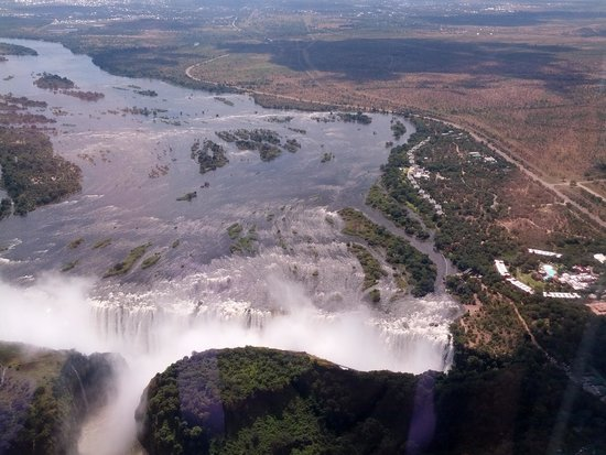 Mosi-oa-Tunya / Victoria Falls National Park : The Helicopter ride