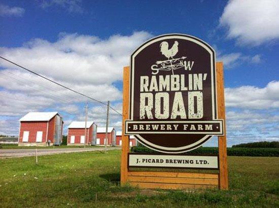 Ramblin Road Sign Brewery Farm Delhi