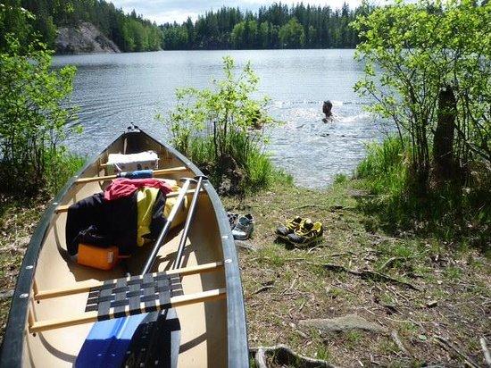 Il bagno a 15° in uno dei 190 mila laghi finlandesi - Picture of ...