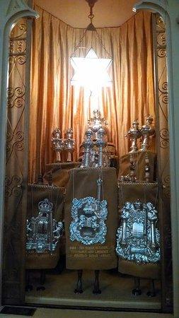Mickve Israel Temple: Ark with Torah inside.