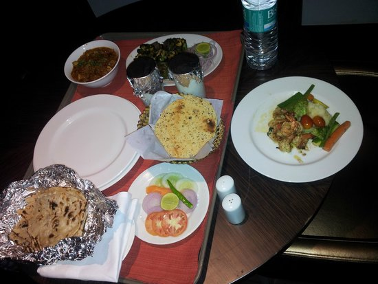 Beaumonde The Fern, An Ecotel Hotel: enjoying seafood wth lassi!!!!!