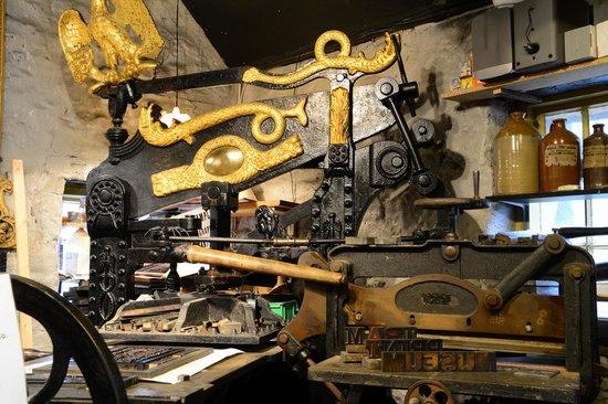 Crich Tramway Village: ye olde printing press
