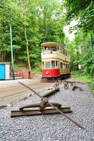Crich Tramway Village: can get off the tram to explore
