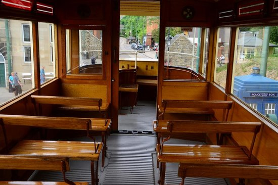 Crich Tramway Village: no cushions! - take your own