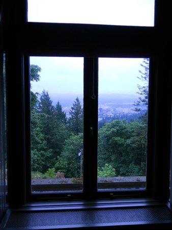 Pittock Mansion: window overlooking Portland