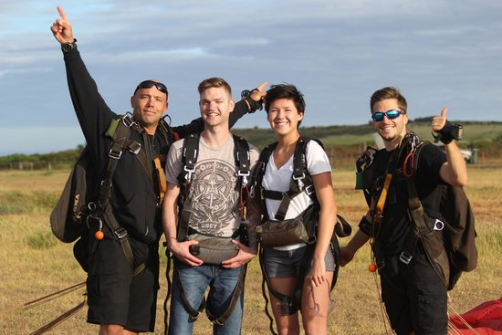 Skydive Kauai: our awesome, unbeatable instructors.  Life in their hands!
