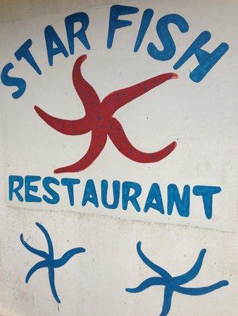 Starfish Restaurant and Bungalows: Star Fish!!!!