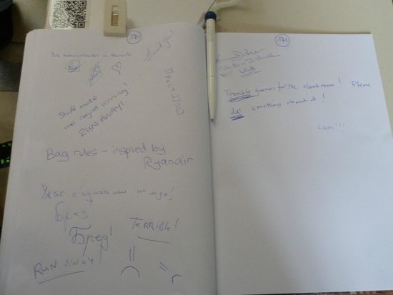 Munich Residence : Guest book pretty accurately sums up my feelings
