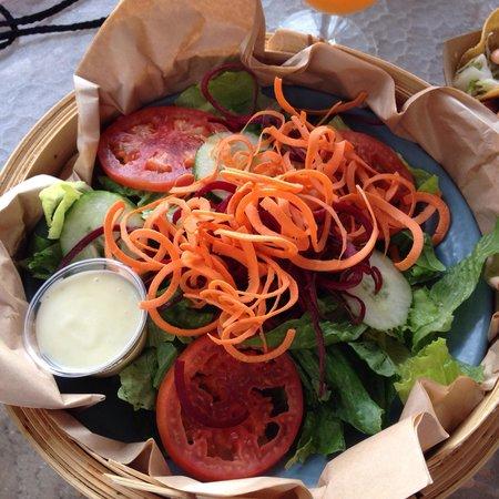 Huggo's On The Rocks: Big green salad