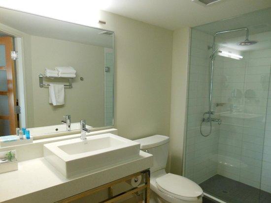 Novotel Toronto Vaughan Centre: Bathroom sink and counter.