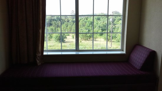 Microtel Inn & Suites by Wyndham Thomasville/High Point/Lexi: Window seat (sorry, pic is dark)