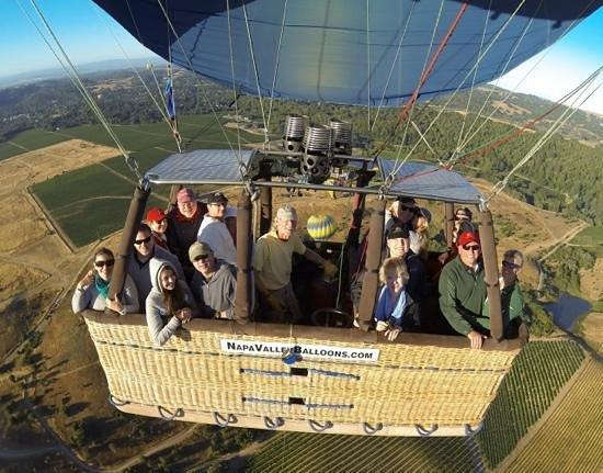 Napa Valley Balloons, Inc. : high above Napa