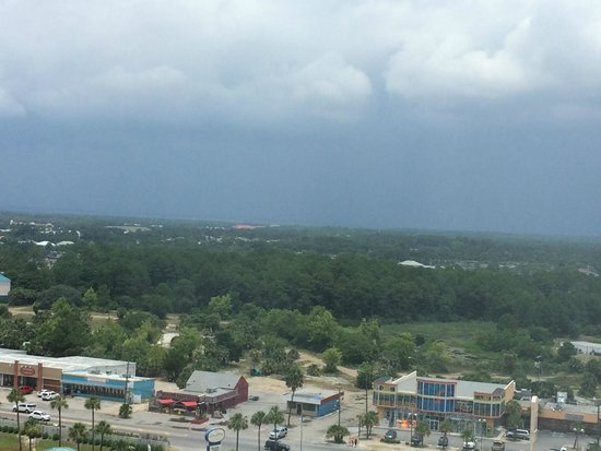 Shores of Panama Resort: View back to Front Beach Rd - Wal-Mart is just to the right