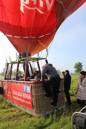 Virgin Balloon Flights: Climbing aboard