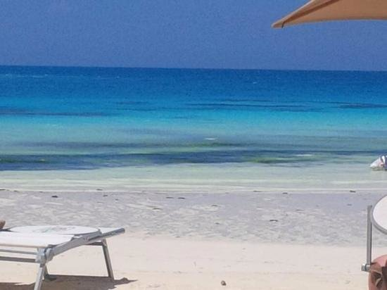 Hideaway of Nungwi Resort & Spa: the loungers on the beach