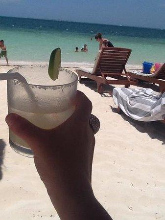 Beloved Playa Mujeres : Margarita at the beach