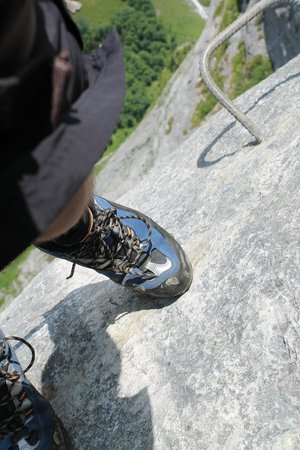 Via Ferrata: My foot, then about 1800 more feet