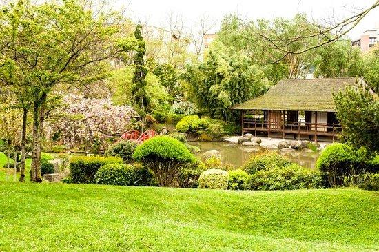 Novotel Toulouse Centre Compans Caffarelli : Jardin Japonais - adjacent to hotel