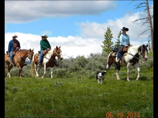 Goosewing Ranch : Riding up to Cowboy Cabin