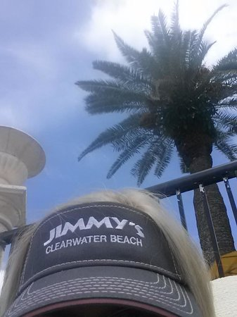 Holiday Inn Hotel & Suites Clearwater Beach: Out by the pool with my Jimmy's visor from the gift shop
