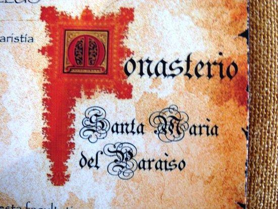 Monasterio Cistercense Santa Maria del Paraiso : Monasterio Cisterciense Santa Maria del Paraiso