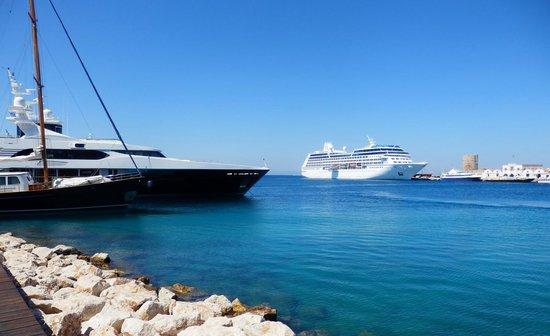 Rhodes: The harbor.