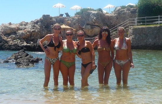 Gran Melia de Mar: Stunning cove at hotel with the 'Bond' girls!