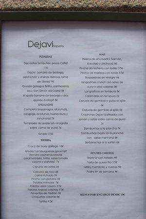 Dejavi Taperia: Carta 28/06/2014