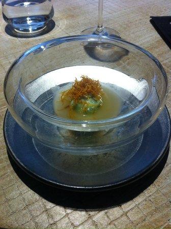 El Club Allard: Ravioli de guisante con papada ibérica
