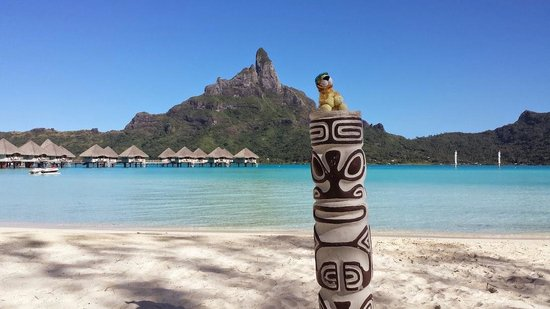 Le Meridien Bora Bora : View from the beach at Le Meridien