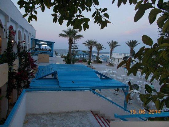 El Mouradi Club Kantaoui : ristorante vista piazzetta e mare