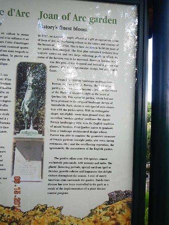 Joan of Arc: Informational plaque