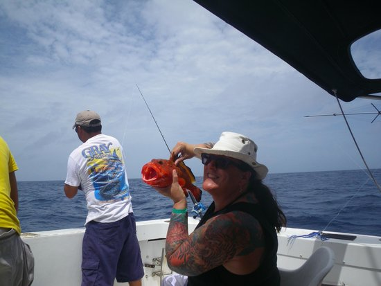 My twin her grouper picture of cancun fishing for Cancun fishing trips