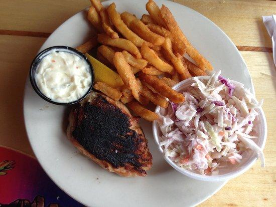 Big Sam's Grill and Raw Bar: Blackened Salmon fish