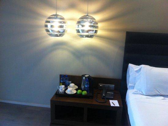 Hotel Olivia Plaza: Bedside lamps