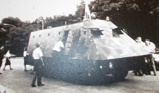 Museum of Croatian War of Independence: the 1 armored truck carrier they had