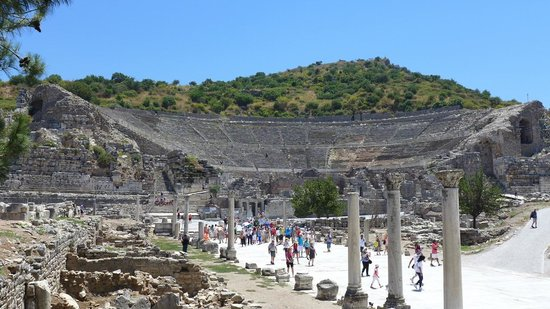 Best of Ephesus Tours: Ephesus Amphitheater one of the biggest in the ancient world with 24.000 person capacity