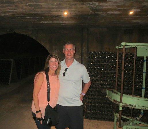 Bodegas Codorniu: us in the cellar