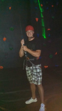 Andretti Indoor Karting and Games: Ready to Climb the Rock Wall