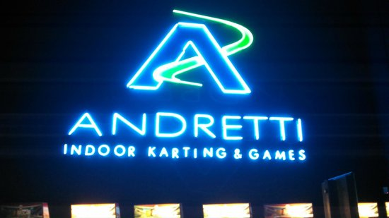 Andretti Indoor Karting and Games: Inside the lobby area....