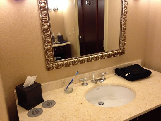 Wyndham Grand Chicago Riverfront: One of two facing vanity areas