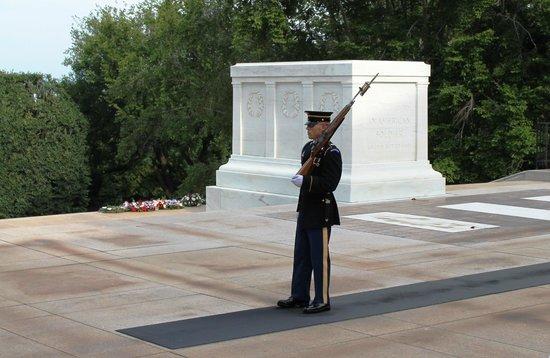 Tumba de los desconocidos: Soldier on guard