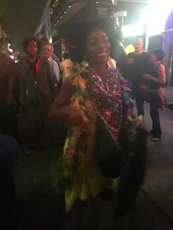 Bourbon Street: She was feeling it